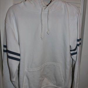 super comfy white hoodie
